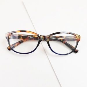Letty reading glasses in Tortoise with Blue +1.50